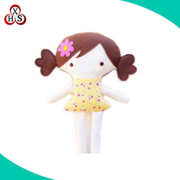 China wholesale handmade custom stuffed soft doll toys rag doll