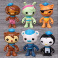 Custom anime octonauts action figure toys lovely cartoon captain barnacles medic peso plastic dolls for kids
