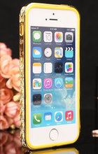 For Apple iPhone 5 5S Wholesales Diamond Glitter Hard Aluminum Metal Bumper Frame Case