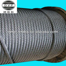 steel wire rope hot-dipped galvanized DIN3052 DIN3053 DIN3054 DIN3055 DIN3060 7x7 7x19 1x7 1x19 1X37