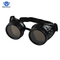 Hot Unisex Vintage Victorian Style Steampunk Goggles Welding Punk Glasses Cosplay Glasses Sunglasses Men Women's Eyewear Goggles