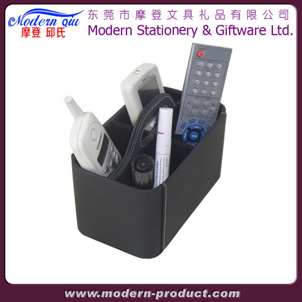 Leather Universal TV Remote Control Organizer Holder