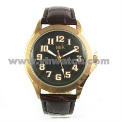 Supply New unisex leather wrist watches famous swiss watch brands logos
