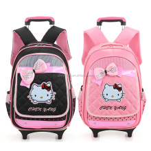 Wholesale Cartoon hello kitty multipurpose bag Child Kids School Trolley Bag