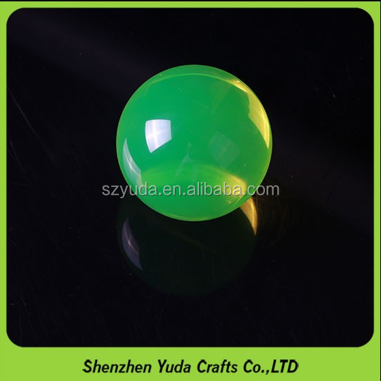 Light's decoration lucite display sphere 76mm lime green acrylic ball