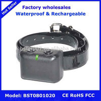 Rechargeable Waterproof Dog training Collar Leather ,NO.1 pet dog barking collar