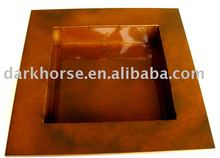 Square Shallow Zinc Planter
