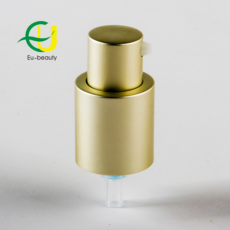 18/410 matte gold aluminum cream pump treatment pump outer spring pump