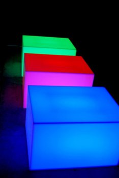Glowing LED lounge table