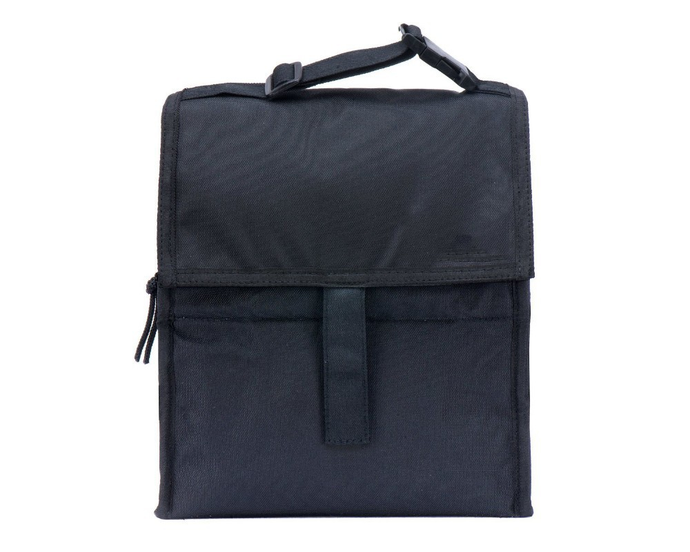 packit freezable lunch bag with zip closure black buy