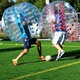 Hot Selling Adult TPU / PVC Body Zorb Bumper Ball Suit Inflatable Bubble Football Soccer Ball With Colored Dots