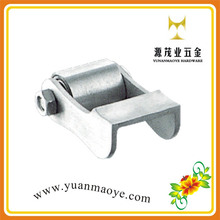 OEM aluminum wheel with bearings sliding iron gate models for greenhouse