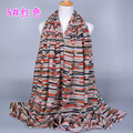 Wholesale new designs viscose striped muslim scarves women hijab shawls GBS160