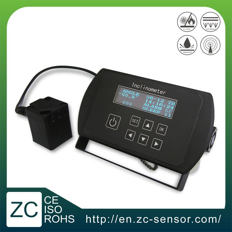 (ZCT-CX05-RC01) Hot Selling With LED Display and Buzzer Cheap Digital Angle Clinometer in Dumper