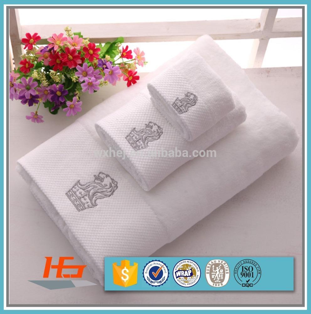 Luxury Hotel Custom Logo Cotton Bath Towel Hand Towel Face