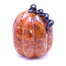 OEM/ODM glass home decoration use led can glowing pumpkin glass decoration wholesale pieces price with handle