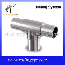 stainless steel equal tee 180 degree flush joiner 3 way fitting pipe connector