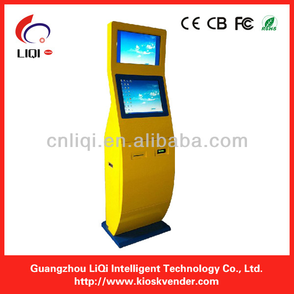 Dual Screen Kiosk Enclosure Cabinet With WIFI,UPS