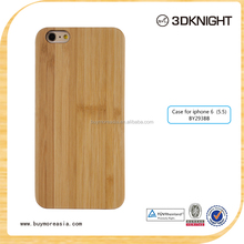 Fashion Blank light wood cover for iphone 6 plus, mobile phone bamboo PC wooden cases for iphone 6s plus