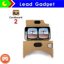 2016 New Google cardboard version 2 customize Google cardboard 3D Virtual reality VR glasses print logo for iphone/Samsung