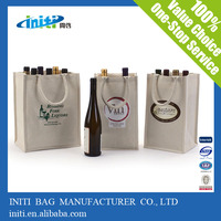 INITI Bottle Packaging Tote Bag Cotton Wine Bag Canvas Jute Wine Bag