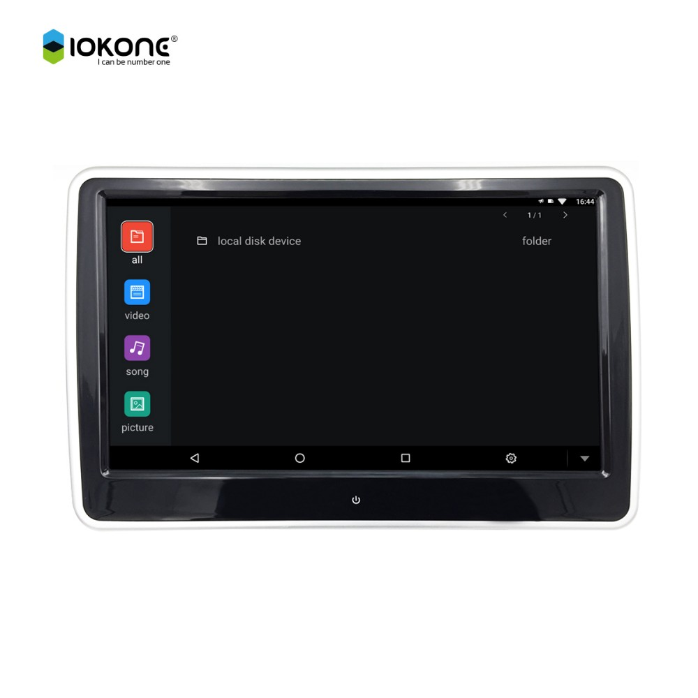 10.6inch digital TFT LCD touch screen high resolution android 6.0 best headrest dvd player for car