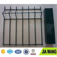PVC Coated OR Galvanized triangle bending fence panel /folding welded wire mesh fence