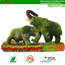 life size Outdoor artificial animal topiaries/ grass plant sculpture/ green sculpture