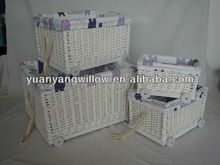 Lavanderia paniere willow\wicker con ruote
