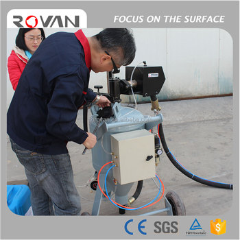 mobile offshore drill platform scale removal dustless blasting machine