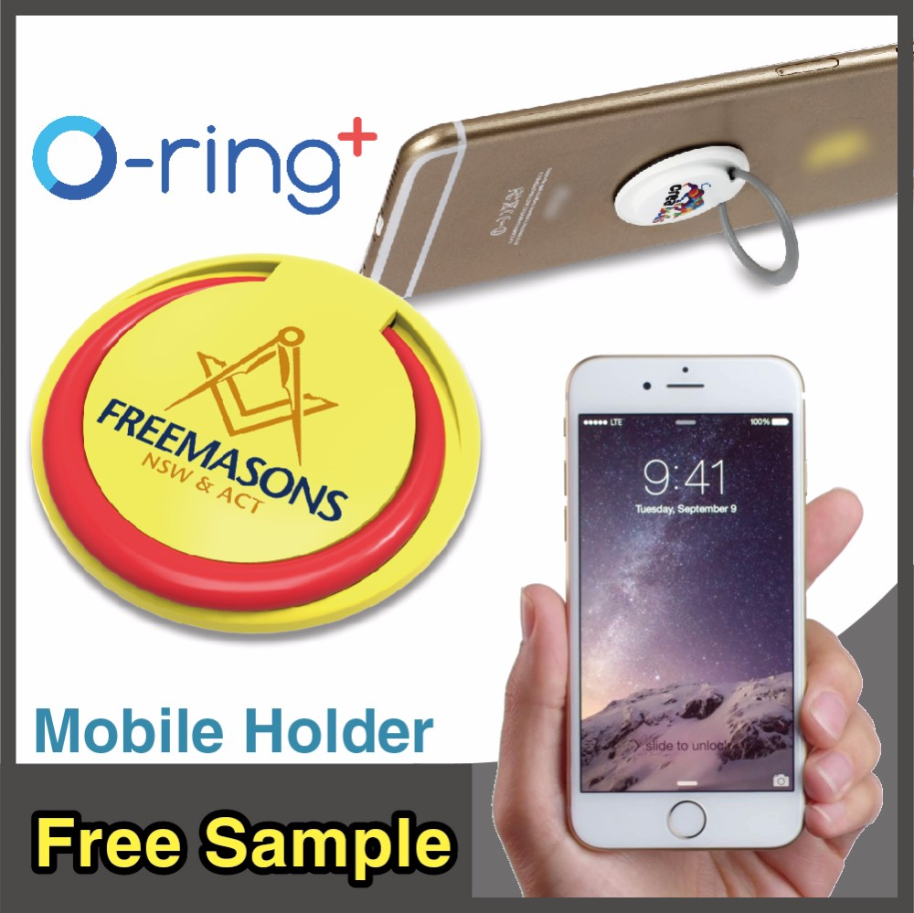 O-ring+ Novelty Multiple Plastic Mobile Phone Holder for All Brand Phone