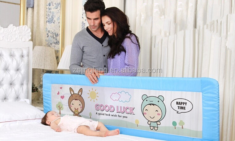 One button baby bed rail protection