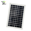 polycrystalline 6W 12v solar panel with aluminium frame and DC line
