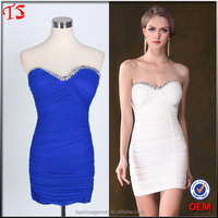 Clothing manufacturer gown wholesale oem beaded short evening dresses