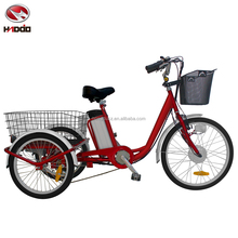 For cargo 250W electric tricycle with pedal assisted 3 wheel bike lithium battery