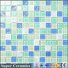 china factory supply mosaic for swimming pool blue ceramic tiles