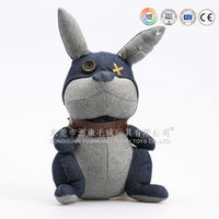 Wholesale Soft Hot Sale PLush Customed Plush Grey Rabbit For Kids Gift