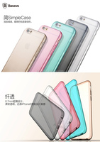 Attached Dust Cap Jelly TPU Hard Silicone Case for apple iphone6 4.7'' Case