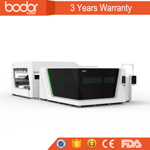 automatic Protecive cover fiber laser cutting machine double paltform cutting 4mm copper swiss design 3 years warranty