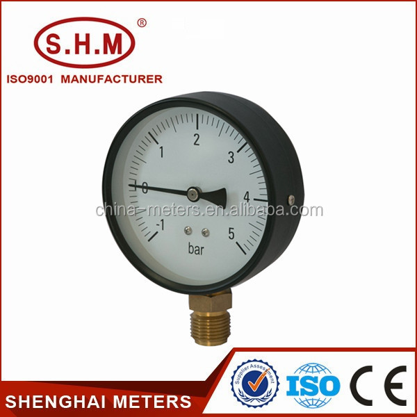 Black steel bourdon tube different type of pressure gauge