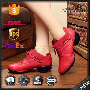 salsa women tap red rubber latin dance shoes