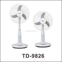 16'' emergency rechargeable standing fan home appliance & solar led fan