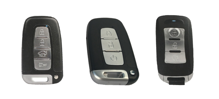 Push button start divide key from car remote keyless entry system