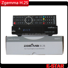 Original satellite receiver HD Zgemma-star h2s Combo dvb s2 dvb t2 satellite receiver no dish