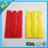 New design silicone mobile phone card holder with high quality