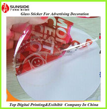 clear static cling film/decorative vinyl static cling decals