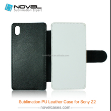 flip pu leather sublimation mobile phone case for sony xperia z2