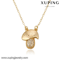 43084-18k gold ladies fashion jewelry gemstone necklace natural
