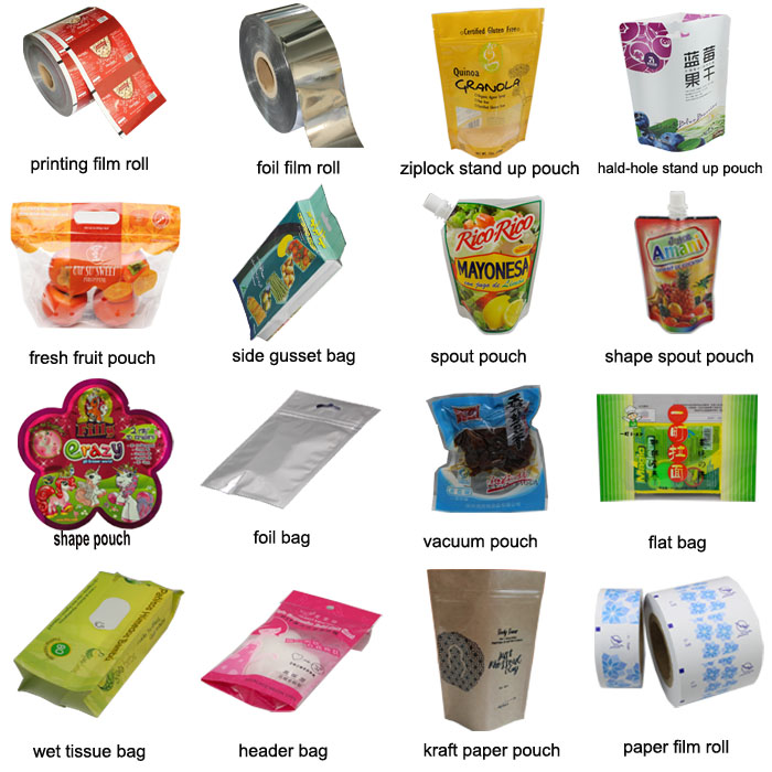 food packaging nylon seal bag with easy tear notch