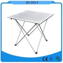 high quality 70*70cm Aluminum square lightweight outdoor folding picnic table
